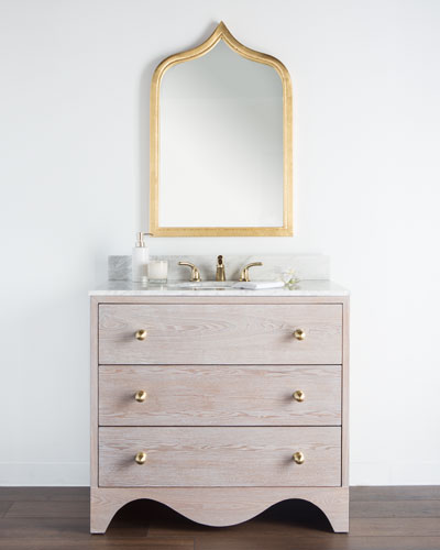 Milton Marble-Top Bath Vanity with Sink