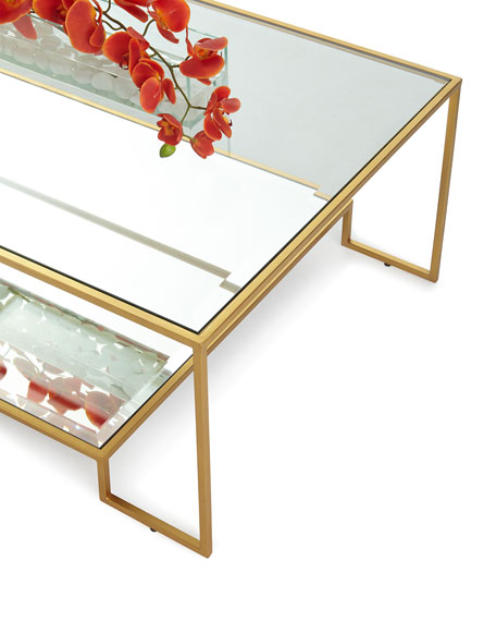 Raja Mirrored Coffee Table