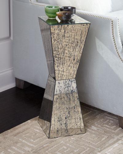 Geometric Antiqued Mirror Martini Table