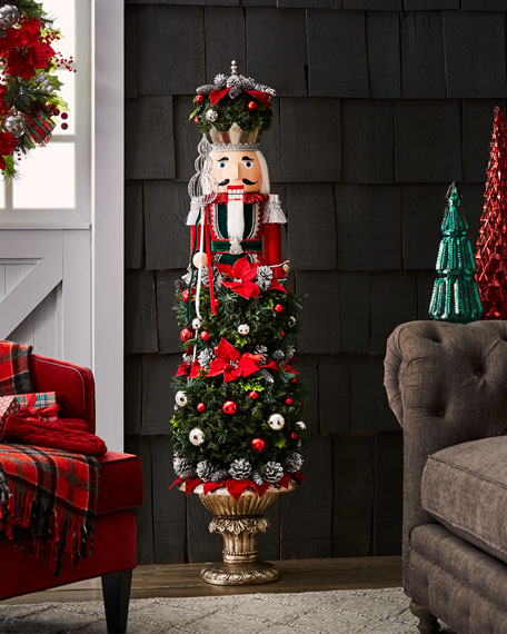 Christmas Topiary Decor.Classic Christmas Nutcracker Topiary Decor 5 1