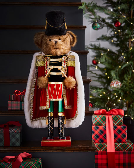 Drummer Bear Nutcracker, 32""