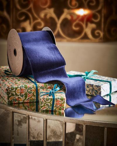 Velvet Doupioni Back Holiday Ribbon