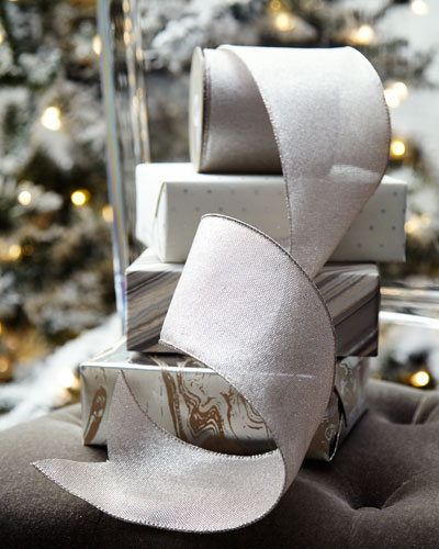 Metallic Linen Holiday Ribbon