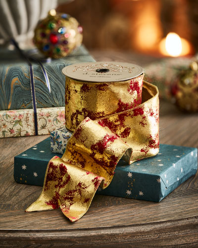 Velvet Vintage-Gold Holiday Ribbon