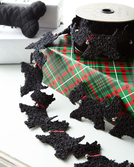 Curly Scottie Felt Garland
