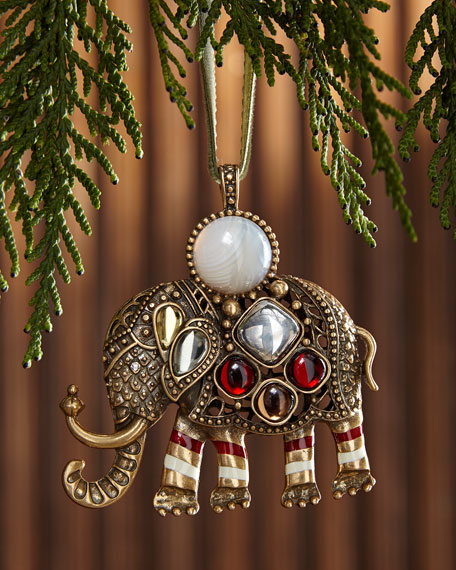 Elephant Hanging Christmas Ornament