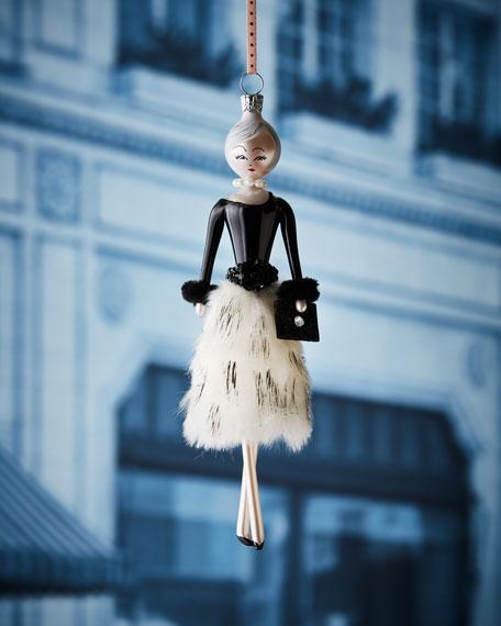 Lela in Faux-Fur Skirt Christmas Ornament