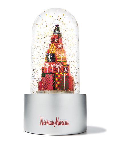 Neiman's Stacked Presents Annual Snow Globe