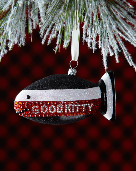 Good Kitty/Bad Kitty 2-Sided Fish Christmas Ornament for