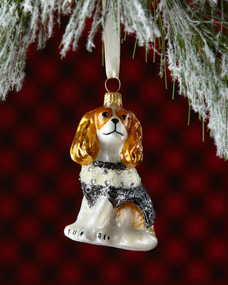 Cavalier King Charles (Blenheim) in Sweater Dog Ornament