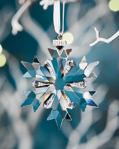 Annual Edition 2018 Crystal Snowflake Christmas Ornament