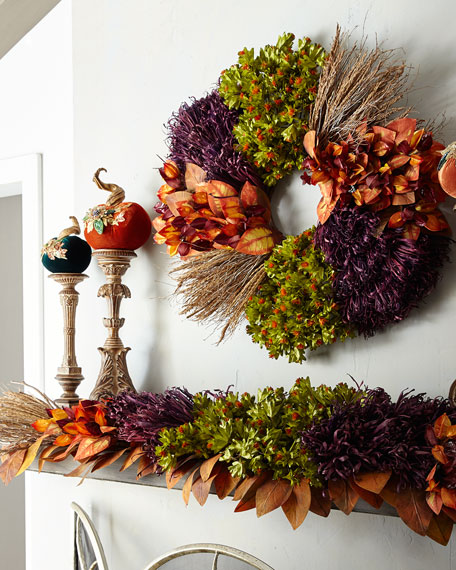 Fall Harvest Wreath, 28""