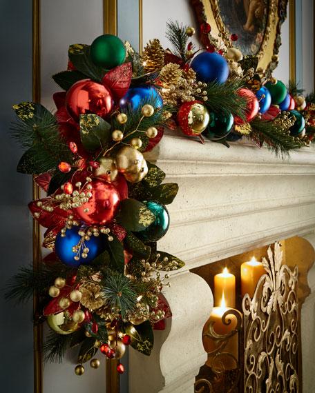 Christmas Lights Shop Charnock Richard: Sparkling Jewel Tones Prelit Garland, 6