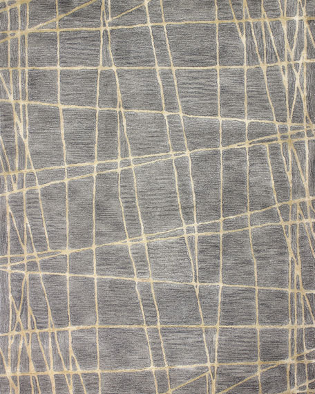 Bane Hand-Tufted Rug, 7.9' x 9.9'