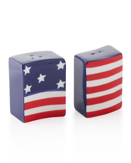Stars and Stripes Flag Salt and Pepper Shakers
