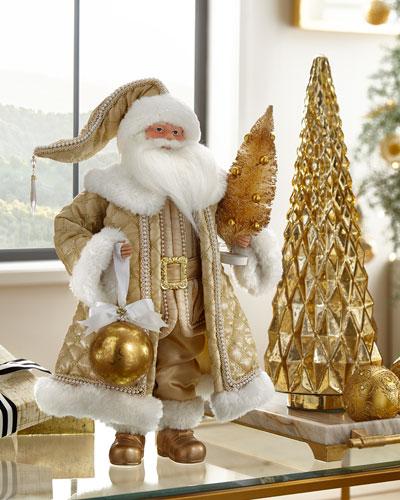 Glimmer & Gold Santa Figure, 20