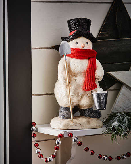 Frosty with Snow Bucket Figure