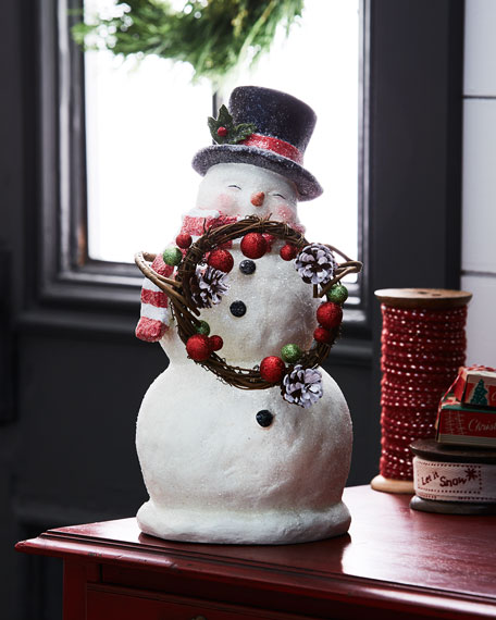 Traditional Smiley Snowman Figure