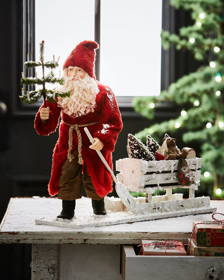 German Santa Pulling Sled