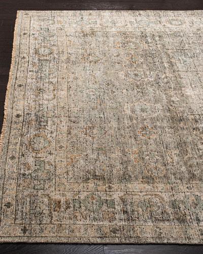 Rowan Hand-Knotted Wool Rug  6' x 9'