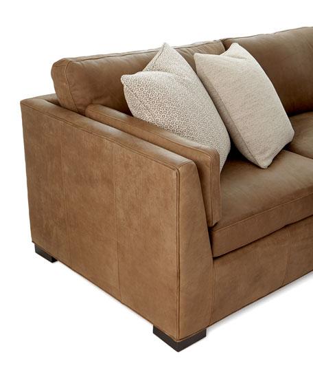 Bernhardt Ellington Leather 4 Piece Sectional