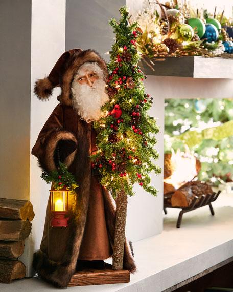 Woodland Rejoice Santa Holding Tree