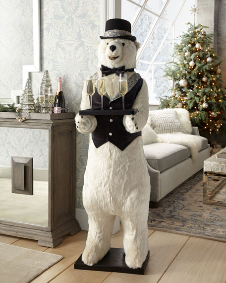 Butler Polar Bear with Pewter Trim