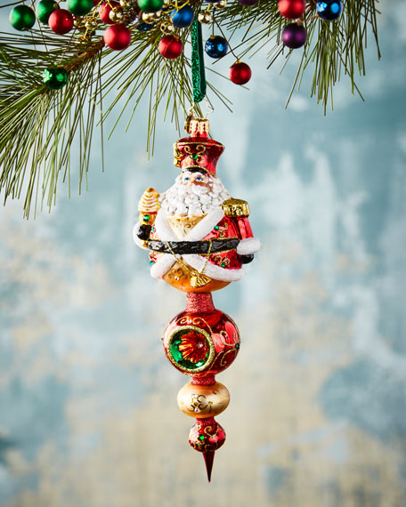 Get to the Point Santa Christmas Ornament