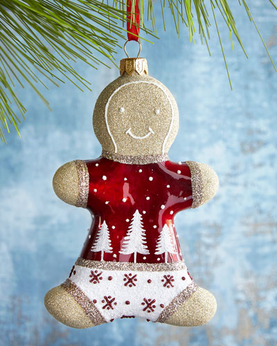 Winter Night Gingerbread Ornament