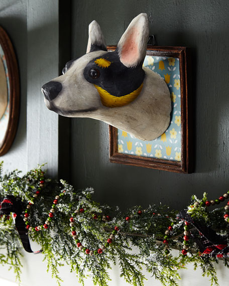 Jack Russell Dog Wall Mount in Square Framed