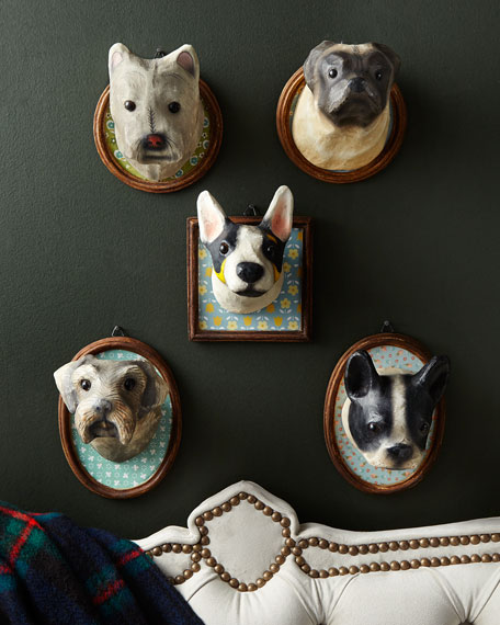 Westie Round Framed Dog Plaque