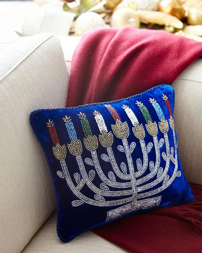 Hanukkah Menorah Pillow