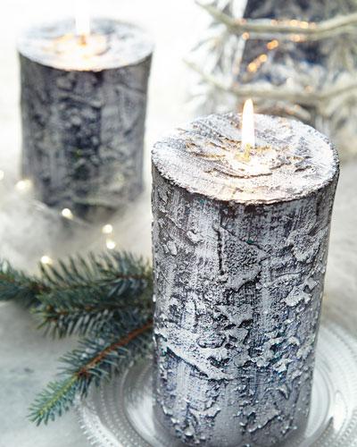 Tall Pillar Bark Candle
