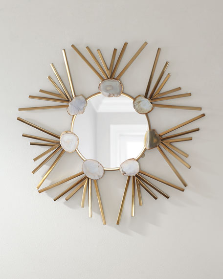 Jamie Young Starburst Agate Wall Mirror
