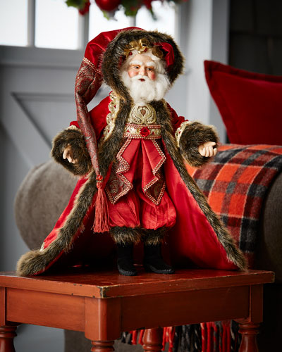 Holiday Cheer Santa Doll, 18