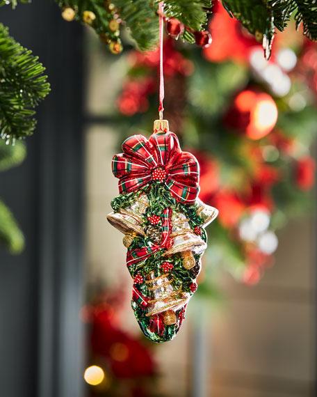 Bells Handmade Glass Christmas Ornament