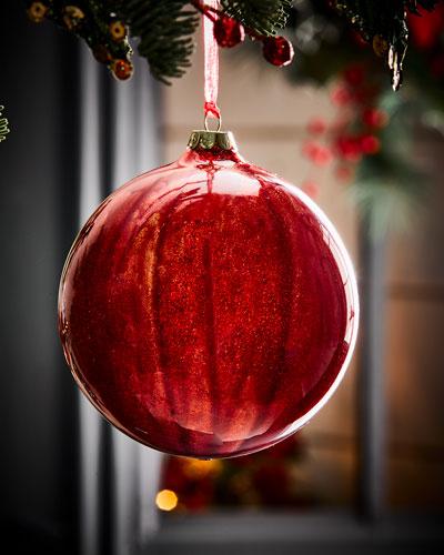Malachite Ball Red Christmas Ornament