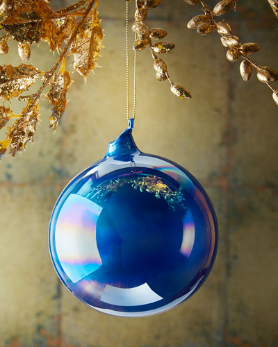 Pearl Glass Ball Christmas Ornament
