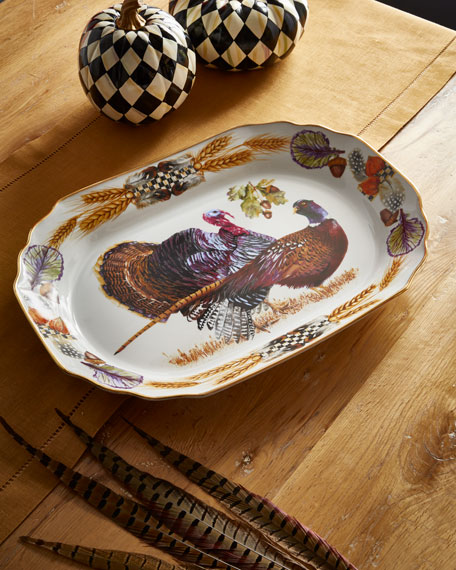 Pheasant Run Large Turkey Platter