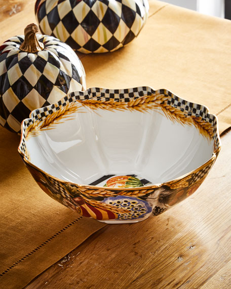 Pheasant Run Serving Bowl