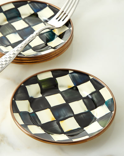 Courtly Check Enamel Canape Plate