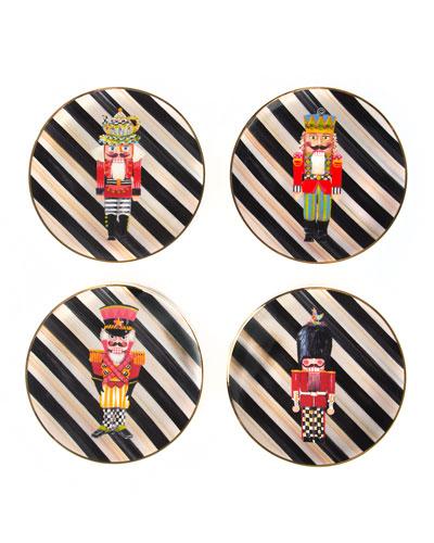Nutcracker Plates, Set of 4