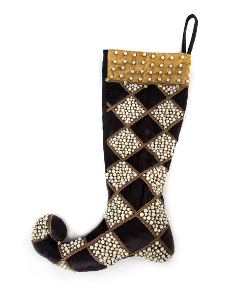 Harlequin Diamond Christmas Stocking