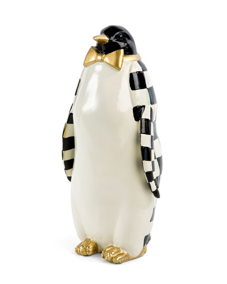 Courtly Check Small Penguin  Statue