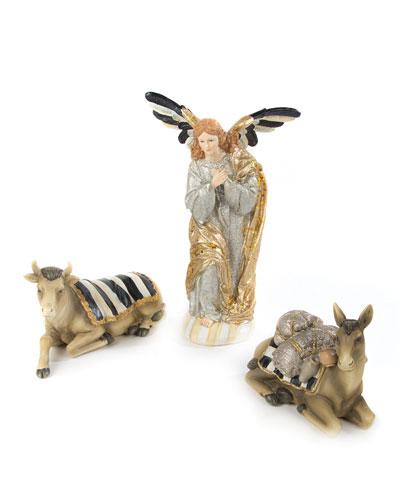 Silver Lining Angel & Animal Nativity Figurines, Set of Three