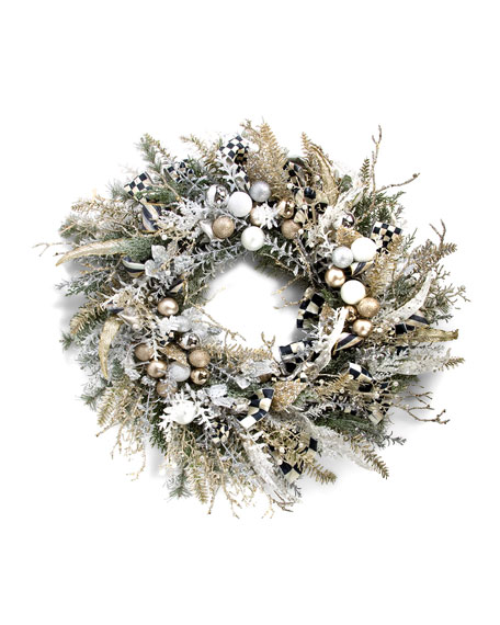 Silver Lining Small Holiday Wreath, 24