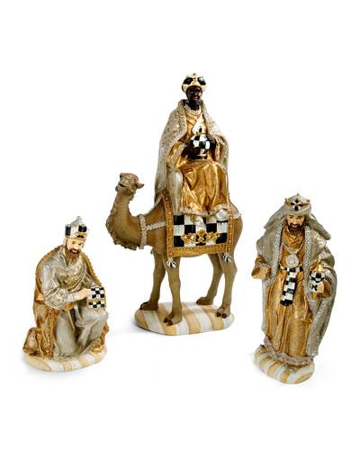Silver Lining Three Kings Nativity Figurines Set