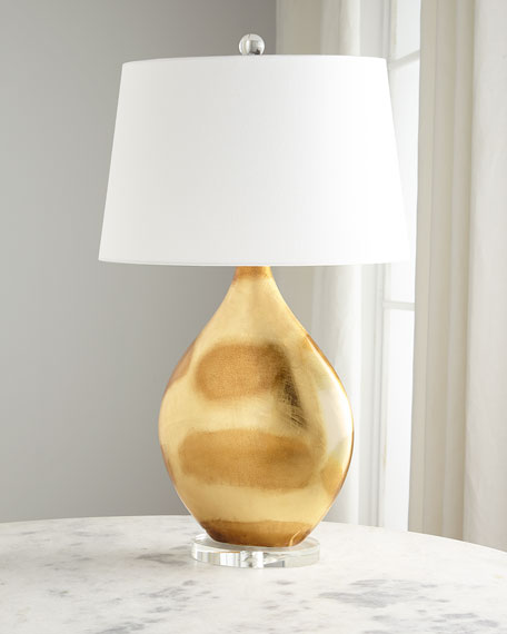Gold Foil Table Lamp