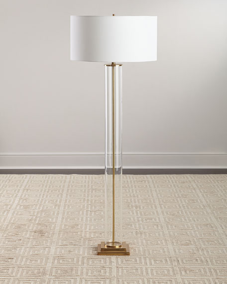 Glass Column Floor Lamp