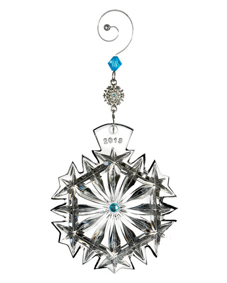 2018 Snowflake Wishes Happiness Christmas Ornament